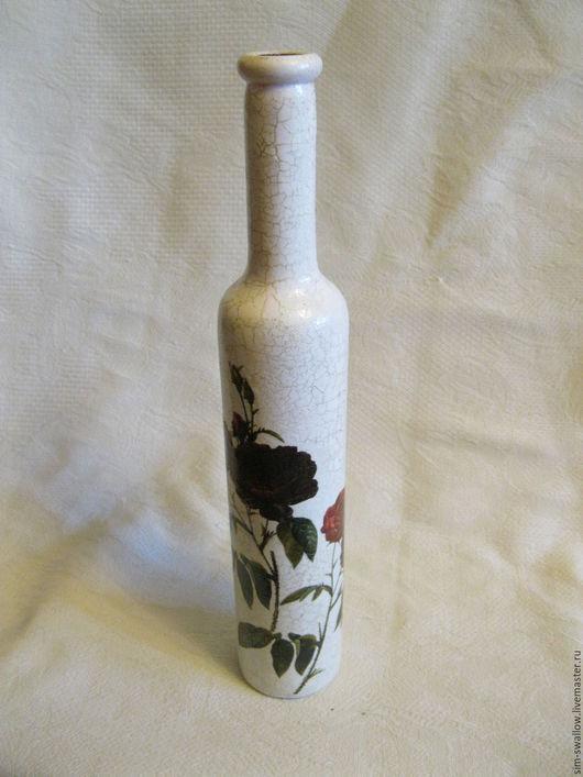 """Вазы ручной работы. Ярмарка Мастеров - ручная работа. Купить Ваза """"Роза тенебрис"""". Handmade. Белый, ваза с характером"""