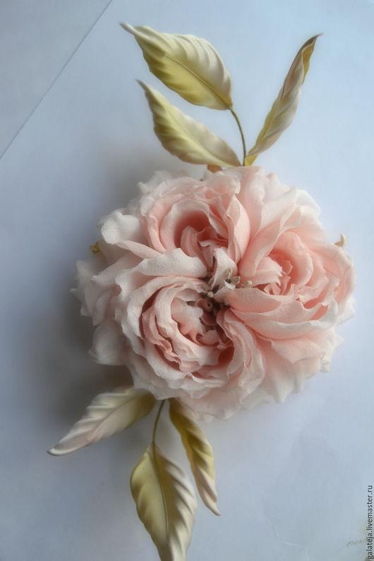 Броши ручной работы. Ярмарка Мастеров - ручная работа. Купить Цветы из шелка Брошь Версаль. Handmade. Розовый, украшение с цветами