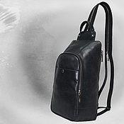 Сумки и аксессуары handmade. Livemaster - original item Leather backpack cross body. Handmade.