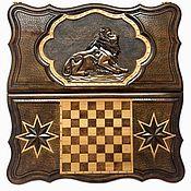 Активный отдых и развлечения handmade. Livemaster - original item Backgammon carved Art. .021