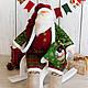 Новый год 2017 ручной работы. Ярмарка Мастеров - ручная работа. Купить Морозыч Санта в стиле тильда. Handmade. Бордовый