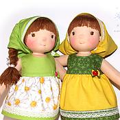 Куклы и игрушки ручной работы. Ярмарка Мастеров - ручная работа Яблочко и Ромашка. Handmade.