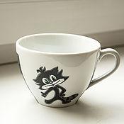 Посуда ручной работы. Ярмарка Мастеров - ручная работа Чашка с котом Чучело-Мяучело. Handmade.