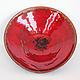 Тарелки ручной работы. Тарелка керамическая Красный мак - 4. NIBOQUA авторская керамика. Ярмарка Мастеров. Огонь, вулкан