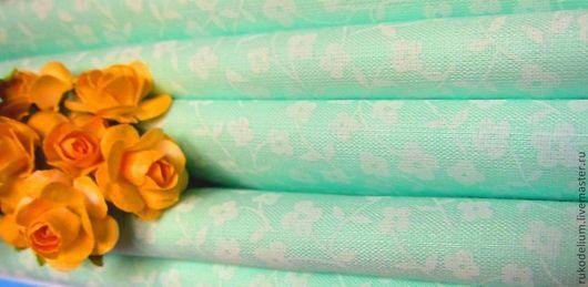 Шитье ручной работы. Ярмарка Мастеров - ручная работа. Купить Ткань хлопок. Handmade. Мятный, ткань для творчества, ткань для одежды