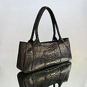 Сумки и аксессуары handmade. Livemaster - original item Handbag made of Python EVESTA. Handmade.