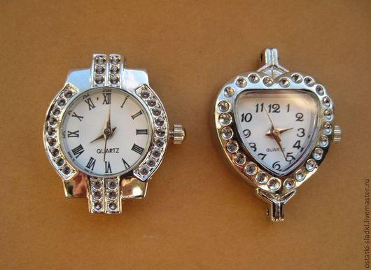 Для украшений ручной работы. Ярмарка Мастеров - ручная работа. Купить Часы серебристые микс, основа для часов (2). Handmade.