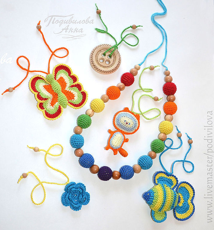Set 'rainbow',slingobusy,toy,teether(amigurumi), Slingbus, Mytishchi,  Фото №1