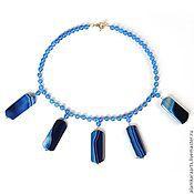 Украшения handmade. Livemaster - original item Necklace blue ray. Handmade.