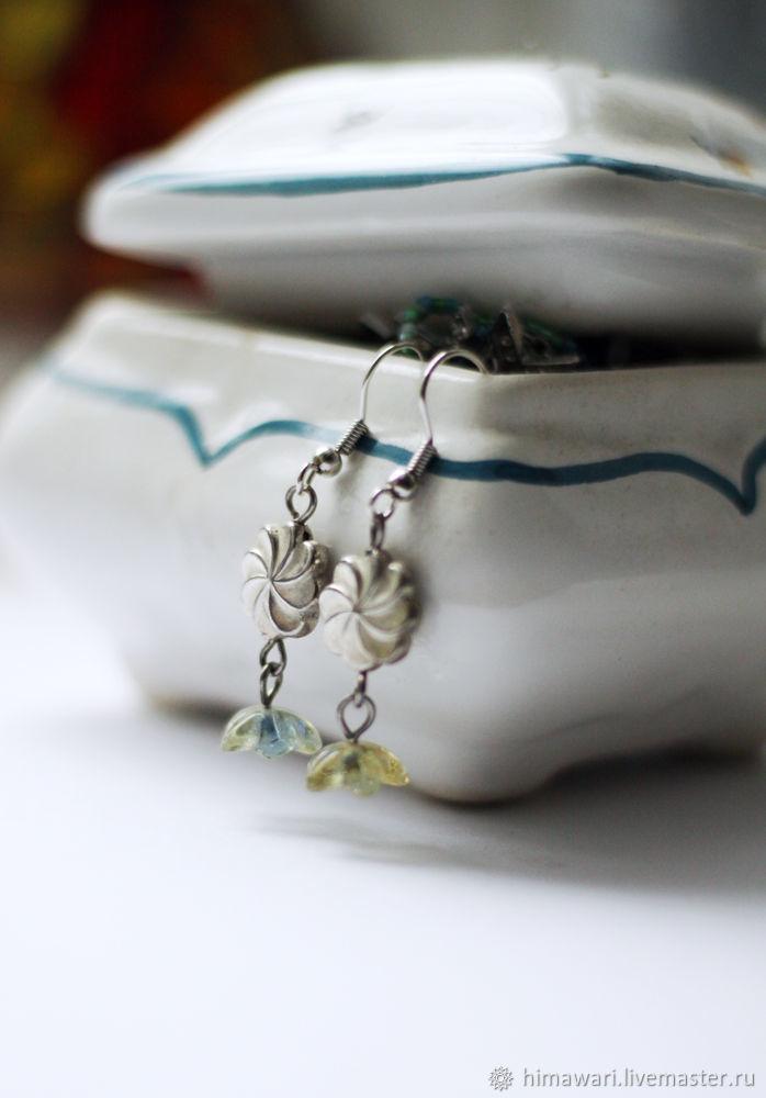 Earrings with flowers, Earrings, Moscow,  Фото №1