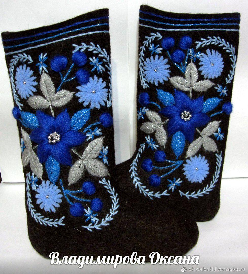 Valenki with embroidery, Felt boots, Cheboksary,  Фото №1