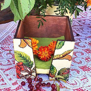 Для дома и интерьера ручной работы. Ярмарка Мастеров - ручная работа Салфетница Ботаника. Handmade.