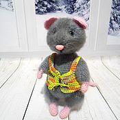 handmade. Livemaster - original item Gray mouse. Handmade.