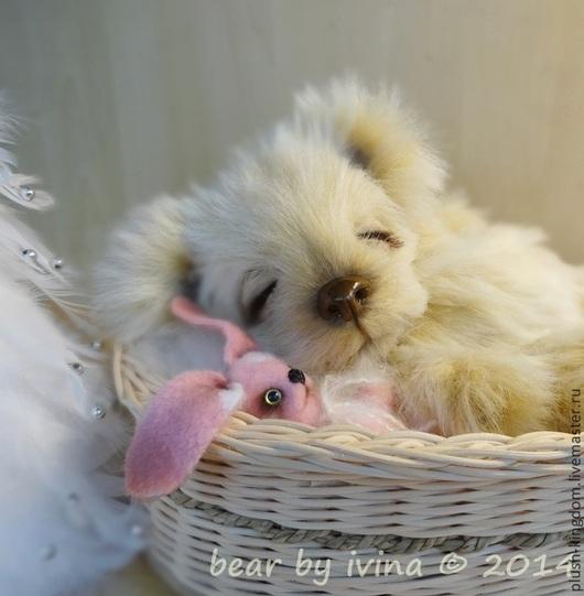 Мишки Тедди ручной работы. Ярмарка Мастеров - ручная работа. Купить Tufty и кролик. Handmade. Бежевый, мишка тедди, плюш