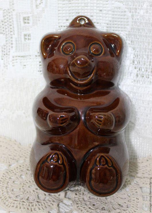 """Винтажная посуда. Ярмарка Мастеров - ручная работа. Купить Керамическая форма для выпечки """"Медвежонок"""" W.Germany, клеймо. Handmade. Коричневый"""