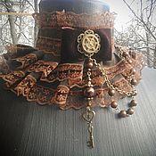 Субкультуры ручной работы. Ярмарка Мастеров - ручная работа Колье-воротник в стиле стимпанк. Handmade.