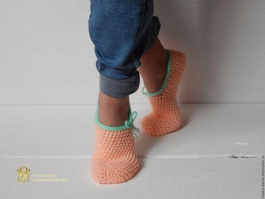 """Обувь ручной работы. Ярмарка Мастеров - ручная работа. Купить """"Балерина"""" следки вязаные. Handmade. Кремовый, следки вязаные, балерина"""