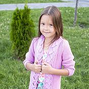 Работы для детей, ручной работы. Ярмарка Мастеров - ручная работа Детский кардиган с косой. Handmade.