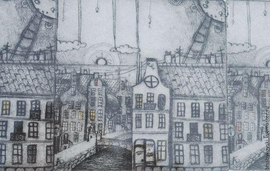 Амстердам ( на картине пятен нет, это кусочек меня отразился, потому что картина в раме) автор Тася Быковски