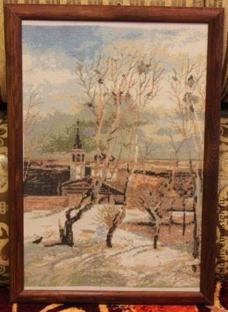 Вышивки крестом по репродукциям картин