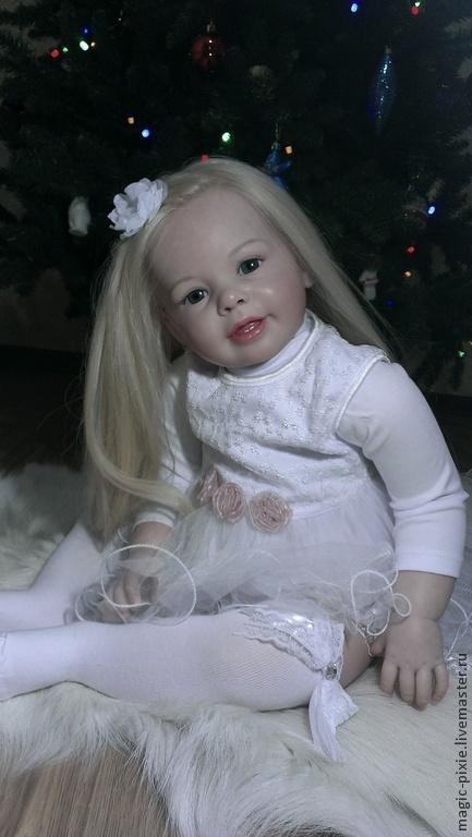 Куклы-младенцы и reborn ручной работы. Ярмарка Мастеров - ручная работа. Купить Кати-Мари кукла реборн. Handmade. Бежевый