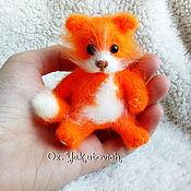 Куклы и игрушки ручной работы. Ярмарка Мастеров - ручная работа Рыжик, котёнок крючком. Вязаная ирушка. Handmade.