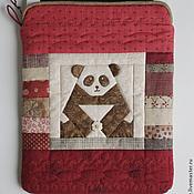 "Сумки и аксессуары handmade. Livemaster - original item Чехол для iPad ""Мишка Панда с цветочком"" из ткани. Handmade."