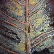 Посуда ручной работы. Ярмарка Мастеров - ручная работа Керамический лист-подставка для украшений или сервировки стола. Handmade.