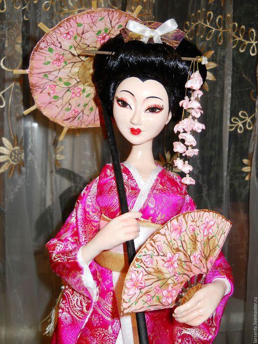 Коллекционные куклы ручной работы. Ярмарка Мастеров - ручная работа. Купить Авторская кукла Сакура. Handmade. Розовый, стильный подарок