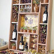 Для дома и интерьера handmade. Livemaster - original item Shelf on the wall wooden for the kitchen with filling Vine. Handmade.