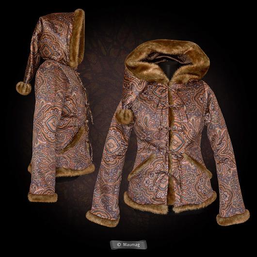 Верхняя одежда ручной работы. Ярмарка Мастеров - ручная работа. Купить Куртка с капюшоном. Handmade. Коричневый, куртка, одежда, с капюшоном