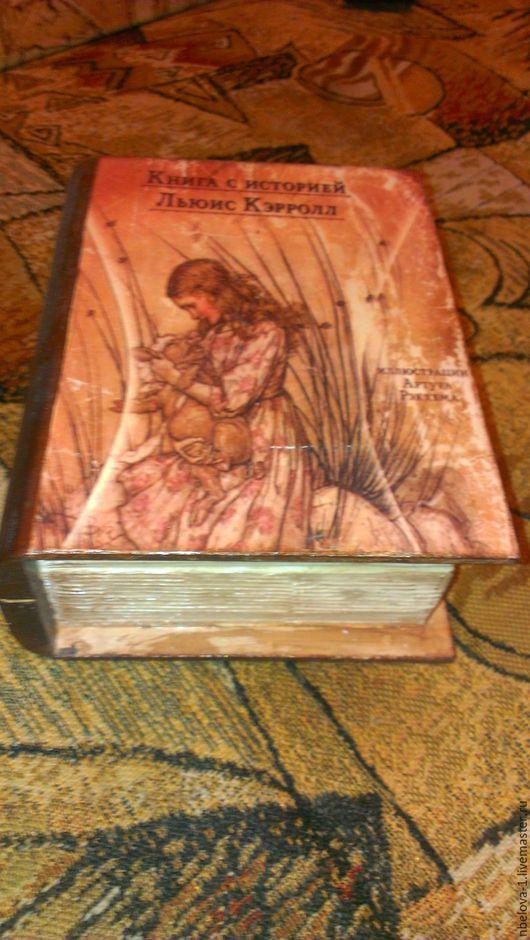 Шкатулки ручной работы. Ярмарка Мастеров - ручная работа. Купить Книга с историей. Handmade. Кремовый, дерево сосна, акриловый лак