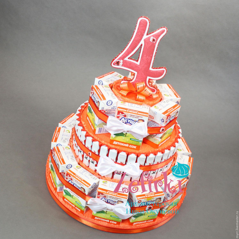 Торт из конфет в детский сад своими руками пошаговое фото для начинающих