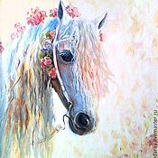 """Картины и панно ручной работы. Ярмарка Мастеров - ручная работа картина """"Цветочная лошадка"""". Handmade."""