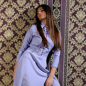 Одежда ручной работы. Ярмарка Мастеров - ручная работа платье с пуговичками. Handmade.