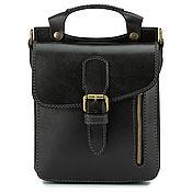 Сумки и аксессуары handmade. Livemaster - original item Bergen leather bag (black). Handmade.