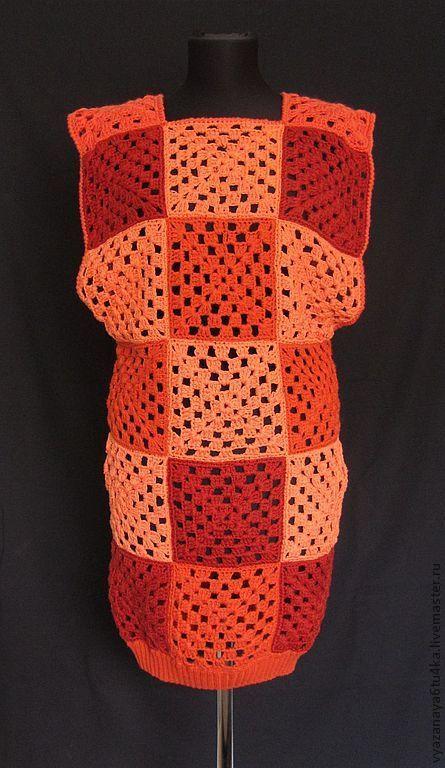 Кофты и свитера ручной работы. Ярмарка Мастеров - ручная работа. Купить Туника «Рыжик». Handmade. Туника, акрил