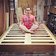 Мебель ручной работы. Ярмарка Мастеров - ручная работа. Купить Кровать «Летающая» №1 из дуба. Handmade. Интерьер, дуб