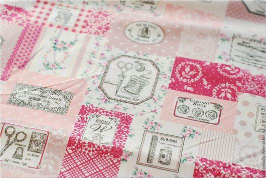 Шитье ручной работы. Ярмарка Мастеров - ручная работа. Купить ПОШВЕЯКА 2 Хлопковые ткани 3 цвета. Handmade. Розовый