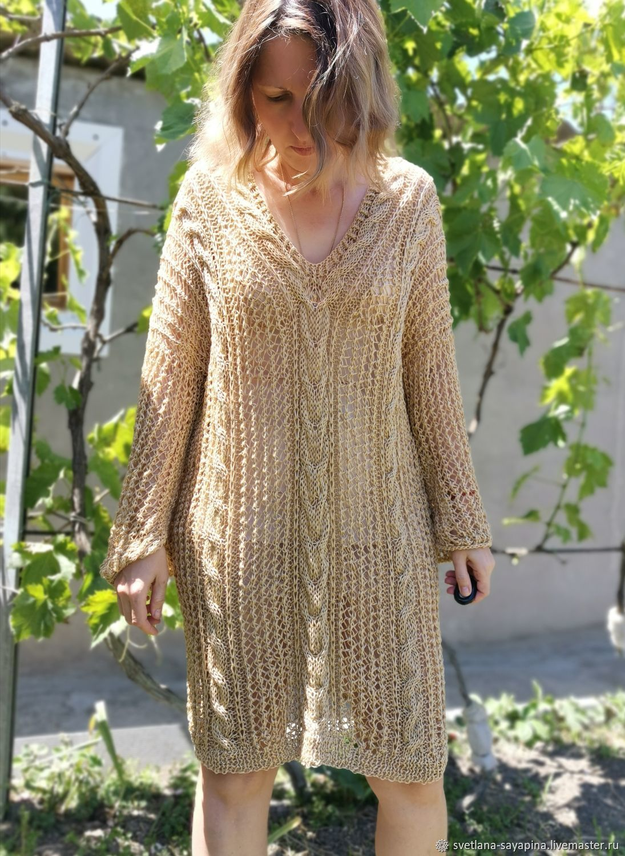 Sweater mesh oversize Dress mesh Stylish tunic, Dresses, Krymsk,  Фото №1