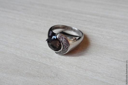 Кольца ручной работы. Ярмарка Мастеров - ручная работа. Купить Серебряное кольцо с натуральным раухтопазом. Handmade. Серебряный