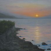 Картины и панно handmade. Livemaster - original item Dawn on the sea (oil painting). Handmade.