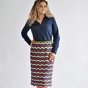 Одежда handmade. Livemaster - original item Skirt knitted wool rainbow. Handmade.