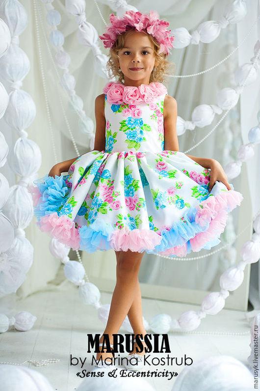 Одежда для девочек, ручной работы. Ярмарка Мастеров - ручная работа. Купить Платье РЧ-39-классика. Handmade. Бледно-розовый
