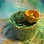 Для дома и интерьера ручной работы. Ярмарка Мастеров - ручная работа шкатулка Кувшинка Керамика. Handmade.
