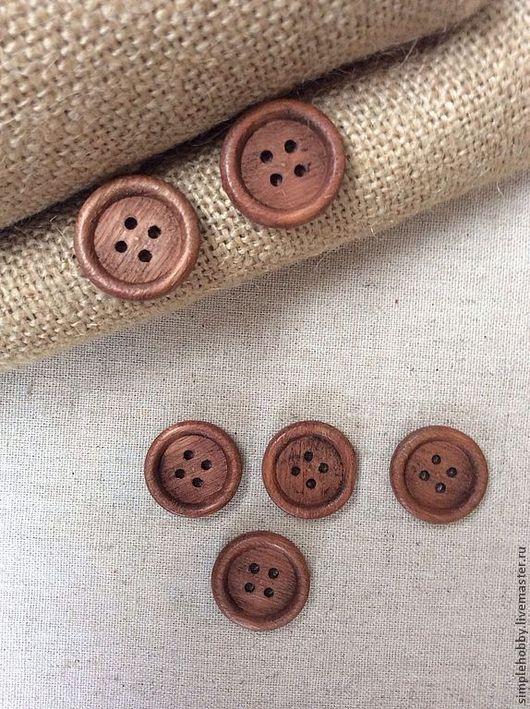 Шитье ручной работы. Ярмарка Мастеров - ручная работа. Купить Пуговицы деревянные. Handmade. Пуговицы, пуговицы для кукол, коричневый, пуговицы
