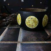 """Браслет из бусин ручной работы. Ярмарка Мастеров - ручная работа """"Фазы луны"""" браслет деревянный с авторской росписью. Handmade."""