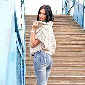 Одежда handmade. Livemaster - original item Women`s vest knitted in the style of