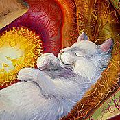 """Картины и панно ручной работы. Ярмарка Мастеров - ручная работа Картина """"Теплые коты"""". Handmade."""