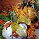 Комплекты аксессуаров ручной работы. Заказать Осенние тыквы. Marina Simacheva. Ярмарка Мастеров. Декор для интерьера, ткань для пэчворка
